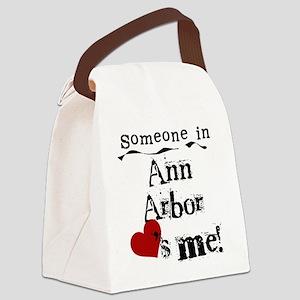 lovesmeannarbor Canvas Lunch Bag