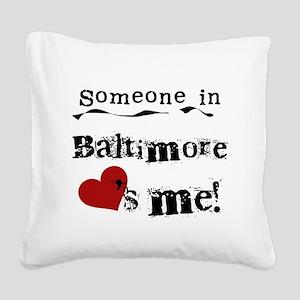 lovesmebaltimore Square Canvas Pillow