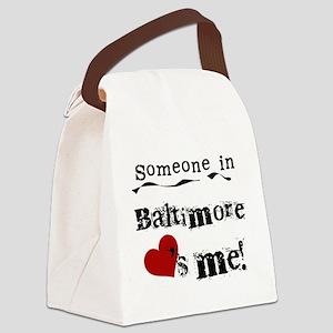 lovesmebaltimore Canvas Lunch Bag