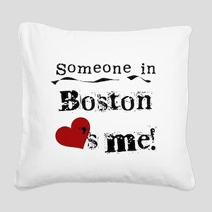 LOVESMEBOSTON Square Canvas Pillow