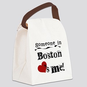 LOVESMEBOSTON Canvas Lunch Bag