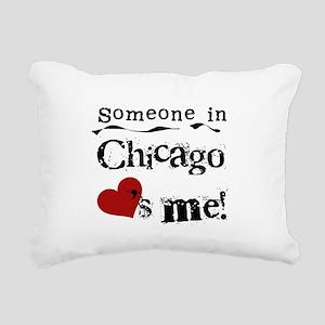 LOVESMECHICAGO Rectangular Canvas Pillow