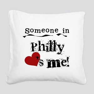 lovesmephilly2 Square Canvas Pillow