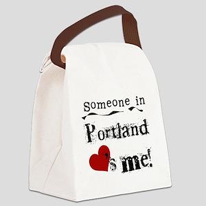 lovesmeportland Canvas Lunch Bag