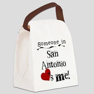 lovesmesanantonio Canvas Lunch Bag