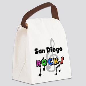 rocksandiego Canvas Lunch Bag