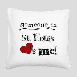 lovesmestlouis Square Canvas Pillow