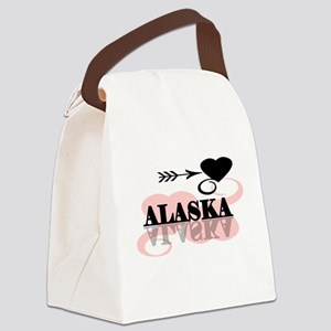 pinkheartalaska Canvas Lunch Bag