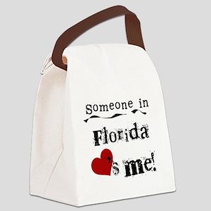 lovesmeflorida Canvas Lunch Bag