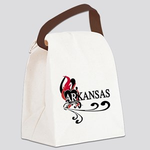 FIREHEARKANSAS Canvas Lunch Bag