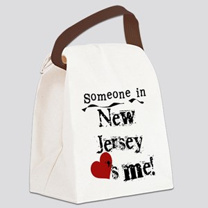lovesmenewjersey Canvas Lunch Bag