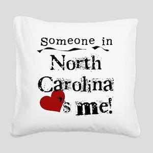 lovesmenorthcarolina Square Canvas Pillow
