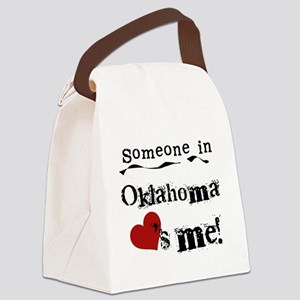 LOVESMEOKLAHOMA Canvas Lunch Bag