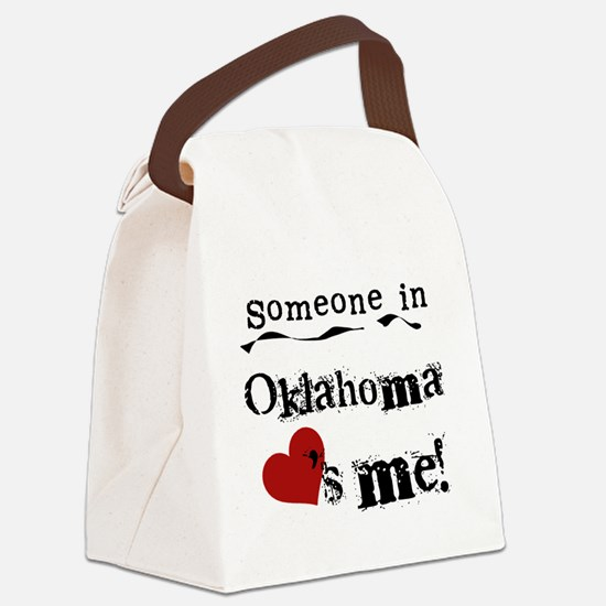 LOVESMEOKLAHOMA.png Canvas Lunch Bag