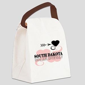 pinkheartsouthdakota Canvas Lunch Bag