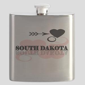 pinkheartsouthdakota Flask