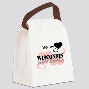 pinkheartwisconsin Canvas Lunch Bag