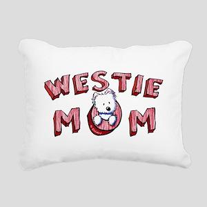 Westie Mom (Red) Rectangular Canvas Pillow