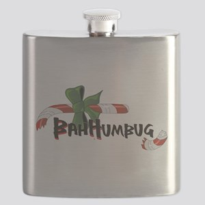 Bah Humbug Broken Candy Cane Flask
