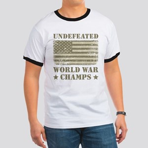 World War Champs Camo Ringer T