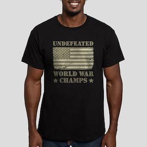 World War Champs Camo Men's Fitted T-Shirt (dark)