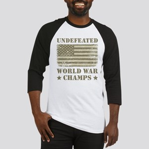 World War Champs Camo Baseball Jersey