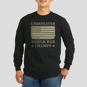 World War Champs Camo Long Sleeve Dark T-Shirt