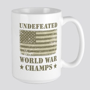 World War Champs Camo Large Mug