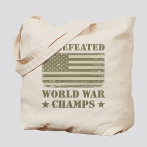 World War Champs Camo Tote Bag