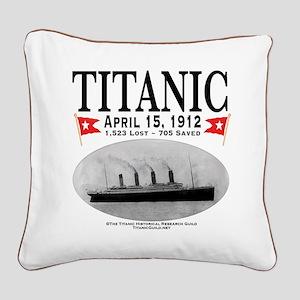 Titanic Ghost Ship (white) Square Canvas Pillow