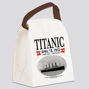 Titanic Ghost Ship (white) Canvas Lunch Bag