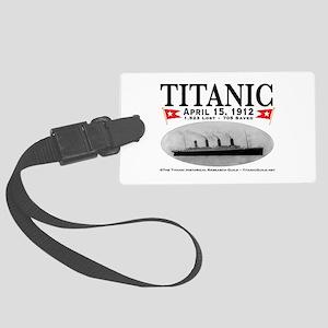 Titanic Ghost Ship (white) Large Luggage Tag w/ID
