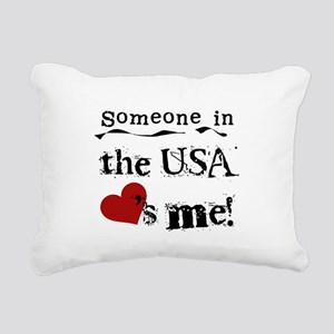 LOVESMEUSA Rectangular Canvas Pillow