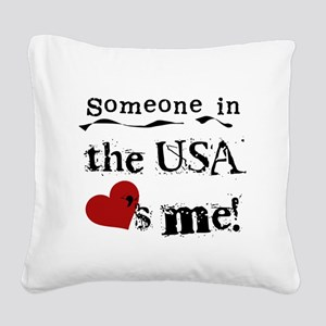 LOVESMEUSA Square Canvas Pillow