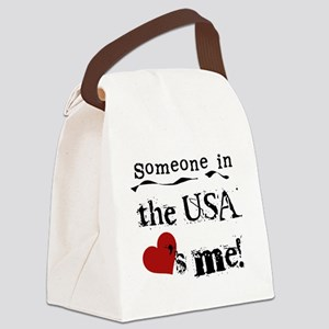 LOVESMEUSA Canvas Lunch Bag