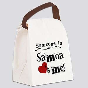 lovesmesamoa Canvas Lunch Bag