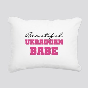 Ukrainian Babe Rectangular Canvas Pillow