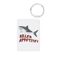 Shark - Killer Appetite Aluminum Photo Keychain