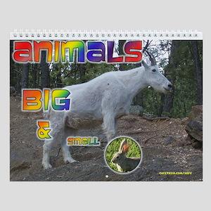 Animals Big and Small Wall Calendar