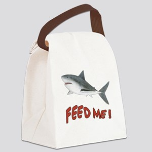 Feed Me - Shark Canvas Lunch Bag