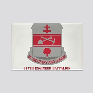 DUI - 317th Engineer Battalion with Text Rectangle