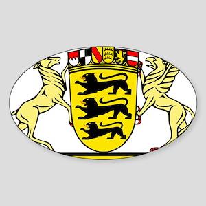 Landeswappen Baden-Württemberg Sticker (Oval)