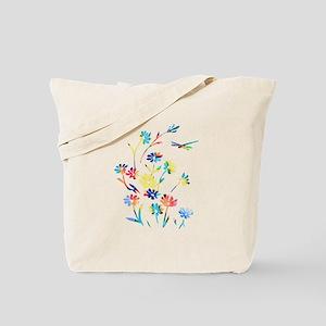 Daisy Dragonfly Rebirth Tote Bag