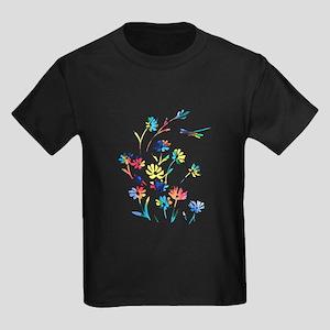 Daisy Dragonfly Rebirth Kids Dark T-Shirt