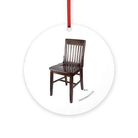 Empty Chair Ornament (Round)