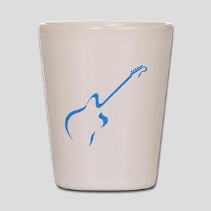 Blue guitar Shot Glass