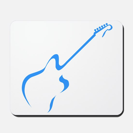 Blue guitar Mousepad