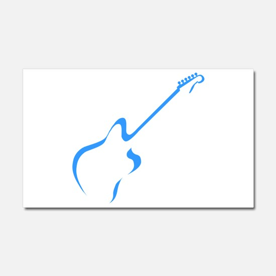 Blue guitar Car Magnet 20 x 12