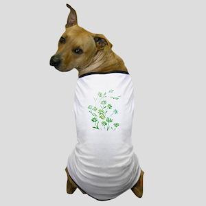 Daisy Dragonfly Green Dog T-Shirt
