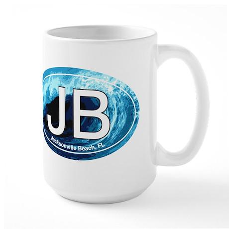 JB Jacksonville Beach Wave Large Mug